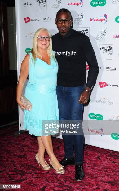 Vanessa Feltz and Ben Ofoedu arriving at the Specsavers Spectacle Wearer of the Year Awards held at the Royal Opera House in London