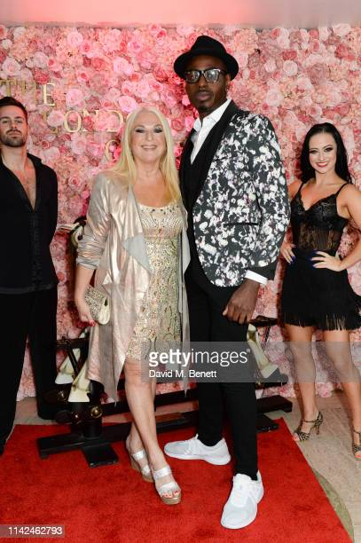 Vanessa Feltz and Ben Ofoedu at The London Cabaret Club's launch of its new show Hats Heels and Horses on May 9 2019 in London England