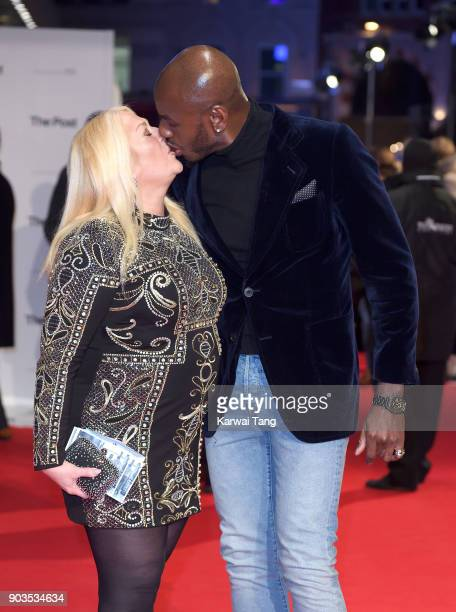 Vanessa Feltz and Ben Ofoedu attend attend the European Premiere of 'The Post' at Odeon Leicester Square on January 10 2018 in London England