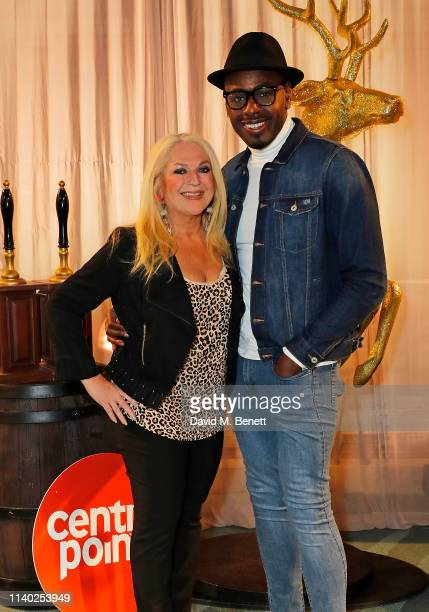 Vanessa Feltz and Ben Ofoedu attend Centrepoint's annual Ultimate Pub Quiz at St Mary's Church on April 03 2019 in London England