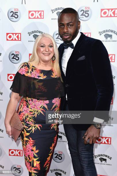 Vanessa Feltz and Ben Ofoedu attend OK Magazine's 25th Anniversary Party at The View from The Shard on March 21 2018 in London England