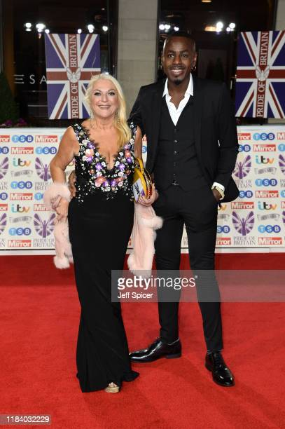 Vanessa Feltz and Ben Ofoedu attend Pride Of Britain Awards 2019 at The Grosvenor House Hotel on October 28 2019 in London England