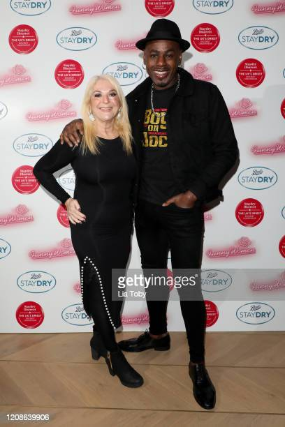 Vanessa Feltz and Ben Ofoedu attend the Boots Staydry Women Take The P**s Comedy Night at Boulevard Theatre on February 25 2020 in London England The...
