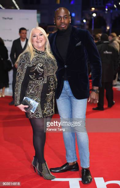Vanessa Feltz and Ben Ofoedu attend the European Premiere of 'The Post' at Odeon Leicester Square on January 10 2018 in London England