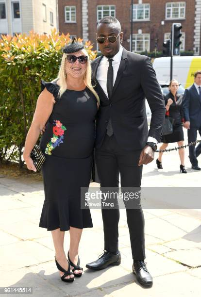 Vanessa Feltz and Ben Ofoedu attend the funeral of Dale Winton at the Old Church 1 Marylebone Road on May 22 2018 in London England