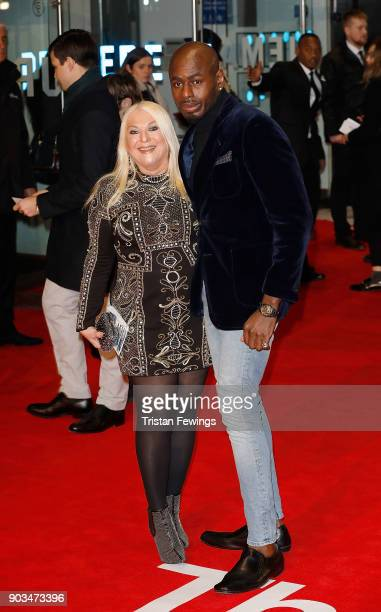 Vanessa Feltz and Ben Ofoedu attend 'The Post' European Premeire at Odeon Leicester Square on January 10 2018 in London England