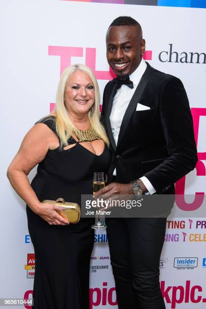 Vanessa Feltz and Ben Ofoedu attend the Rainbows Celebrity Charity Ball at Dorchester Hotel on June 1 2018 in London England