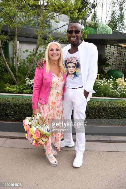 Vanessa Feltz and Ben Ofoedu attend the RHS Chelsea Flower Show 2019 press day at Chelsea Flower Show on May 20 2019 in London England