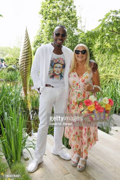 Vanessa Feltz and Ben Ofoedu attend 'The Savills and David Harber Garden' which celebrates the environmental benefit and beauty of trees plants and...