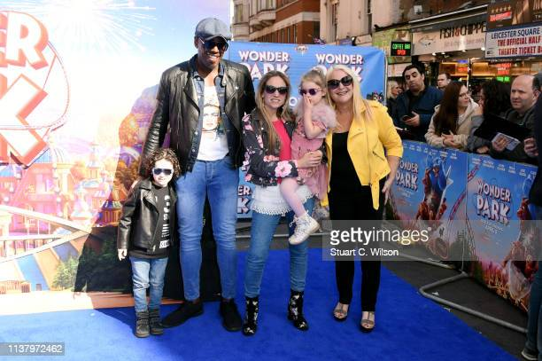 Vanessa Feltz and Ben Ofoedu attend the UK Gala screening of WONDER PARK at Vue Leicester Square on March 24 2019 in London England