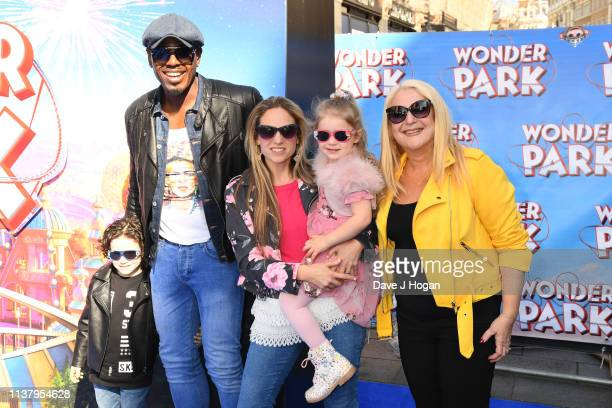 Vanessa Feltz and Ben Ofoedu attends the UK Gala screening of WONDER PARK at Vue Leicester Square on March 24 2019 in London England