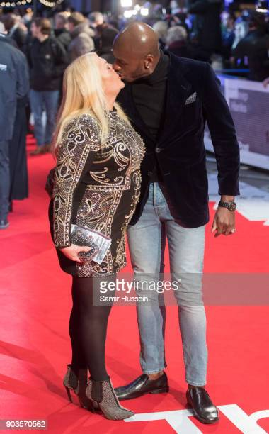 Vanessa Feltz and Ben Ofoedu attned 'The Post' European Premeire at Odeon Leicester Square on January 10 2018 in London England