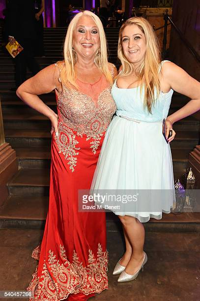 Vanessa Feltz and daughter Saskia Kurer attend the press night after party for Disney's 'Aladdin' at The The National Gallery on June 15 2016 in...