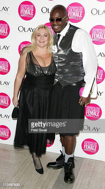 Vanessa Feltz and Guest during Cosmopolitan Fun Fearless Female Awards with Olay Red Carpet at Bloomsbury Ballroom in London Great Britain