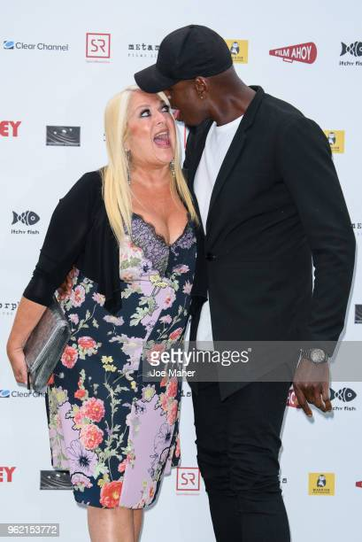 Vanessa Feltz andBen Ofoedu attend 'The Bromley Boys' UK premiere held in The Great Room at Wembley Stadium on May 24 2018 in London England