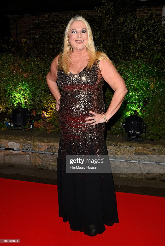 Vanessa Feltz attends the Emeralds & Ivy Ball in aid of Cancer Research UK and the Marie Keating Foundation at Embankment Gardens on December 5, 2015 in London, England.