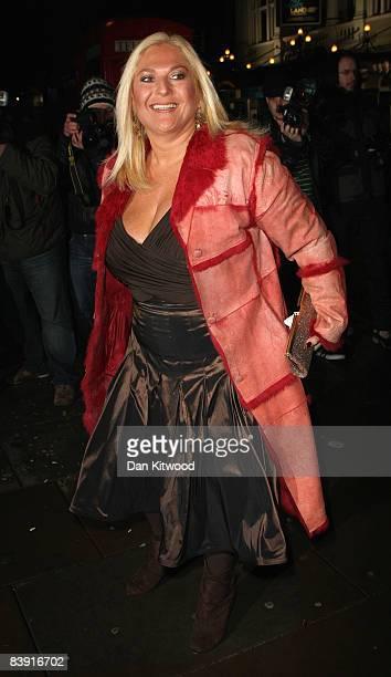 Vanessa Feltz attends the 'Sleeping Beauty' VIP reception at St. Martins Hotel on December 04, 2008 in London, England.