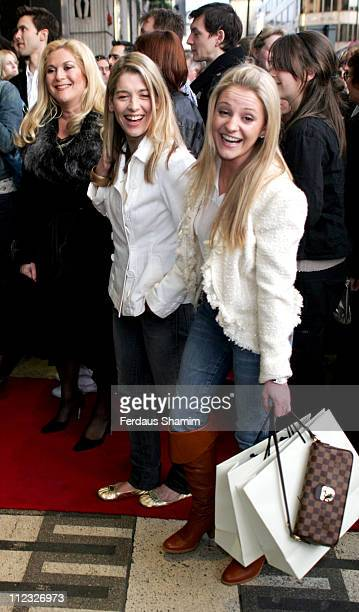Vanessa Feltz guest and Nicola Stapleton during Movin' Out London Premiere Outside Arrivals at Apollo Victoria Theatre in London Great Britain