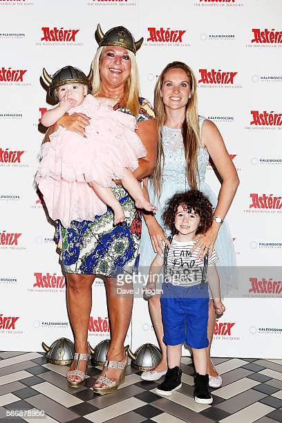 Vanessa Feltz with daughter Allegra Kurer and grandchildren Zeke and Neroli attends the gala screening of Asterix The Mansions of the Gods at...