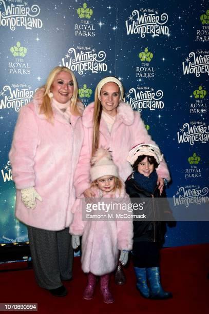 Vanessa Feltz with daughter Allegra Kurer holding her son Ezekiel and daughter Neroli attends the VIP Launch of Hyde Park Winter Wonderland on...