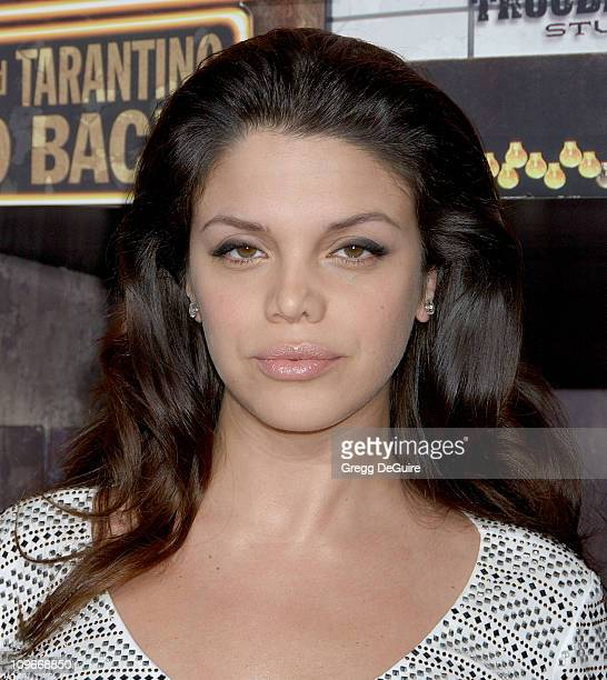 Vanessa Ferlito during Grindhouse Los Angeles Premiere Arrivals at The Orpheum Theatre in Los Angeles California United States