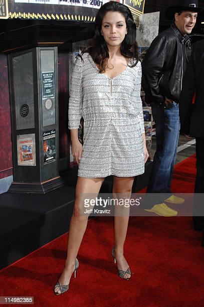 Vanessa Ferlito during Grindhouse Los Angeles Premiere Red Carpet at Orpheum Theatre in Los Angeles California United States