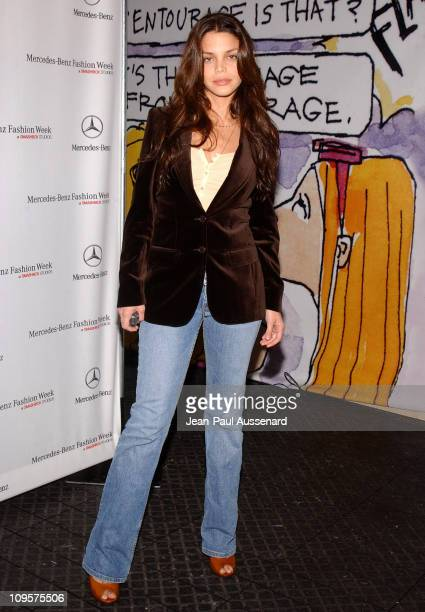 Vanessa Ferlito during MercedesBenz Spring 2005 Fashion Week at Smashbox Studios Day 3 Arrivals at Smashbox Studios in Culver City California United...