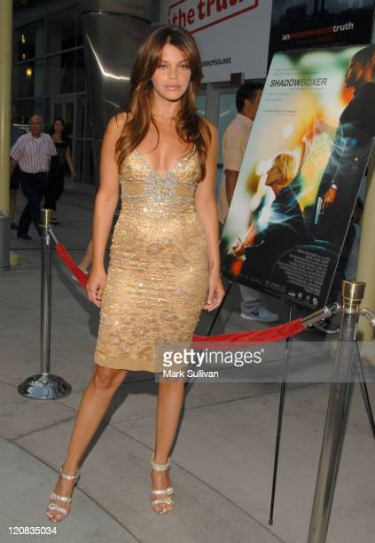 Vanessa Ferlito during Shadowboxer Los Angeles Premiere Red Carpet at ArcLight in Hollywood California United States