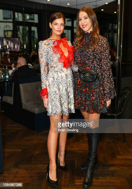 Vanessa Fuchs and Alana Siegel attend the Lana Mueller reception and show screening during the Berlin Fashion Week Autumn/Winter 2019 at Amano Grand...