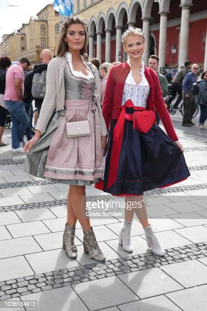 Vanessa Fuchs and Darya Strelnikovaduring the 'Fruehstueck bei Tiffany' at Tiffany Store ahead of the Oktoberfest on September 22 2018 in Munich...