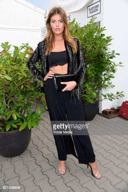 Vanessa Fuchs attends the Thomas Rath show during Platform Fashion July 2017 at Areal Boehler on July 23 2017 in Duesseldorf Germany