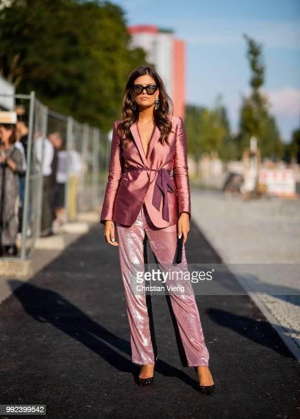 Vanessa Fuchs is seen outside Dawid Tomaszewski during the Berlin Fashion Week July 2018 on July 5 2018 in Berlin Germany