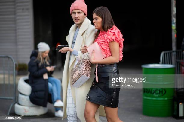 Vanessa Fuchs is seen outside Marina Hoermanseder during the Berlin Fashion Week Autumn/Winter 2019 on January 17 2019 in Berlin Germany
