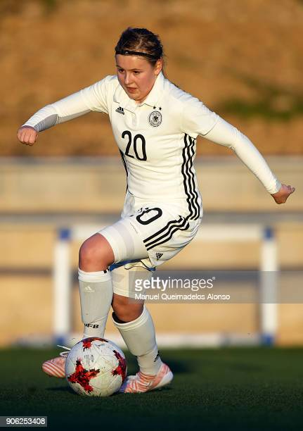 Vanessa Fudalla of Germany in action during the international friendly match between U17 Girl's Germany and U17 Girl's England at Complex Esportiu...