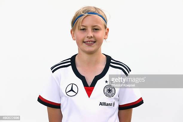 Vanessa Fudalla of Germany poses during the U15 Girls Germany team presentation at Sporcentrum KamenKaiserau on September 29 2015 in Kamen Germany