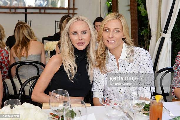 Vanessa Getty and Jamie Tisch attend NETAPORTER Celebrates Women Behind The Lens at Chateau Marmont on February 26 2016 in Los Angeles California