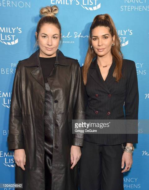Vanessa Giovacchini and Marylouise Pels of Posso attend EMILY's List 3rd Annual Pre-Oscars Event at Four Seasons Hotel Los Angeles at Beverly Hills...