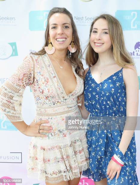 Vanessa Gordon and Carrie Berk attends The Inaugural Hamptons Interactive Influencer Brunch Hosted By East End Taste Produced By Ticket2Events at...