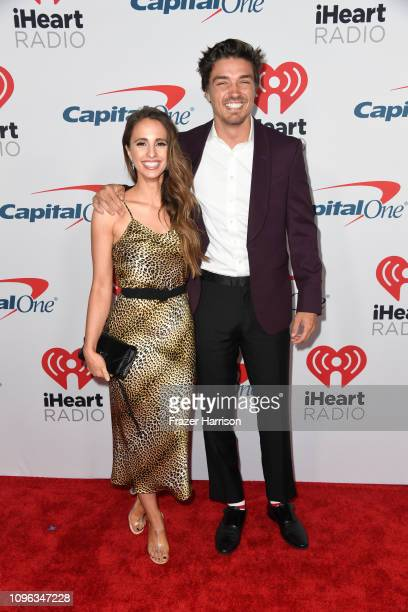 Vanessa Grimaldi and Dean Unglert attend the iHeartRadio Podcast Awards Presented By Capital One at iHeartRadio Theater on January 18 2019 in Burbank...