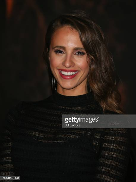 Vanessa Grimaldi attends the premiere of Columbia Pictures' 'Jumanji Welcome To The Jungle' on December 11 2017 in Los Angeles California
