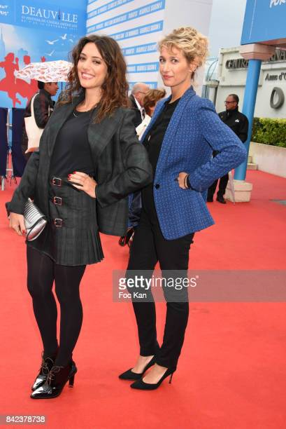 Vanessa Guide and Caroline Anglade attend the Tribute to Jeff Goldblum and 'Kidnap' Premiere during the 43rd Deauville American Film Festival on...