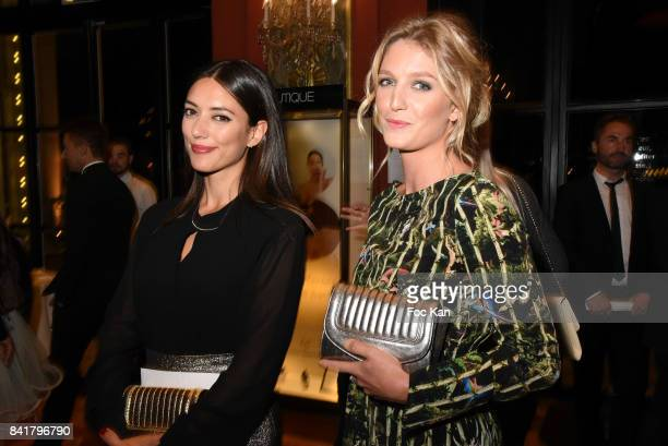 Vanessa Guide and Pauline Leprince attend the Opening ceremony Dinner of the 43rd Deauville American Film Festival at Casino on September 1 2017 in...