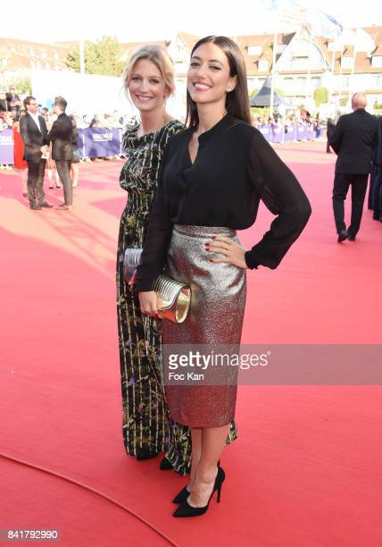 Vanessa Guide and Pauline Leprince attend the opening ceremony of the 43rd Deauville American Film Festival on September 1 2017 in Deauville France