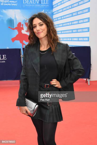 Vanessa Guide attends the Tribute to Jeff Goldblum and 'Kidnap' Premiere during the 43rd Deauville American Film Festival on September 3 2017 in...