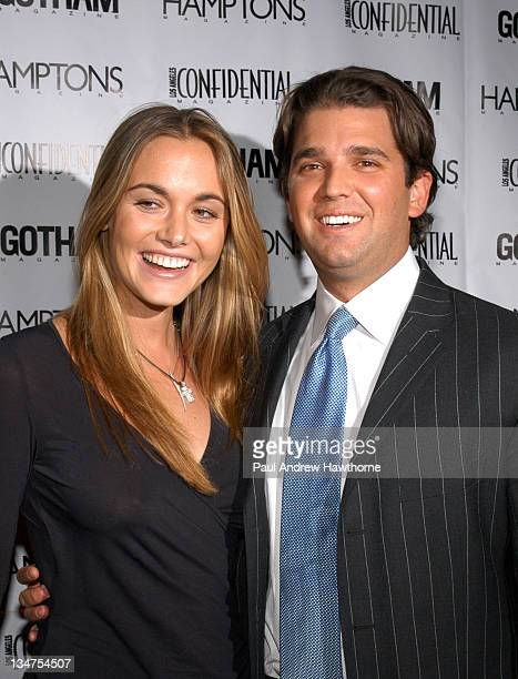Vanessa Haydon and Donald Trump Jr during Kim Cattrall Hosts the StarStudded Anniversary Celebration of Gotham and LA Confidential Magazines –...