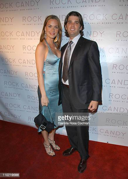 Vanessa Haydon and Donald Trump Jr during The Launch of Rock Candy at Rock Candy in New York City New York United States