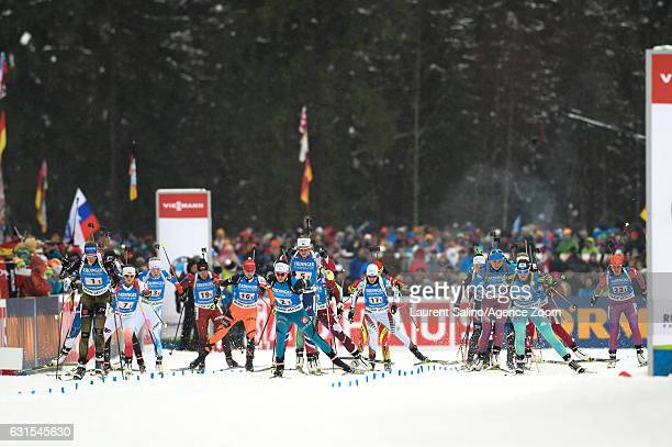 Vanessa Hinz of Germany takes 1st place, Anais Chevalier of France takes 2nd place, Iryna Varvynets competes, Susan Dunklee of USA competes, Kaia...
