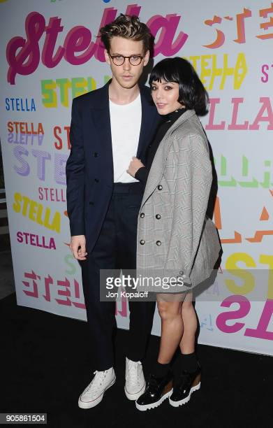 Vanessa Hudgens and Austen Butler attend Stella McCartney's Autumn 2018 Collection Launch on January 16 2018 in Los Angeles California
