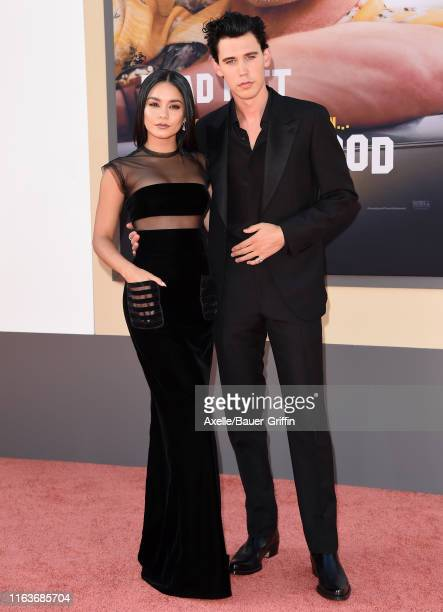 Vanessa Hudgens and Austin Butler attend Sony Pictures' Once Upon a Time in Hollywood Los Angeles Premiere on July 22 2019 in Hollywood California