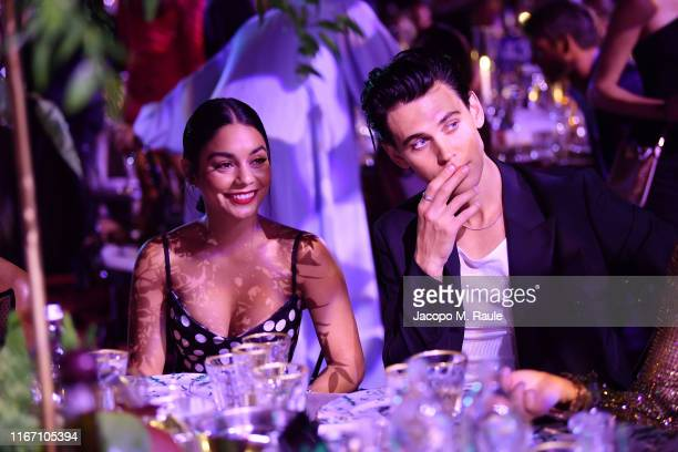 Vanessa Hudgens and Austin Butler attend the dinner at the Unicef Summer Gala Presented by Luisaviaroma at on August 09 2019 in Porto Cervo Italy